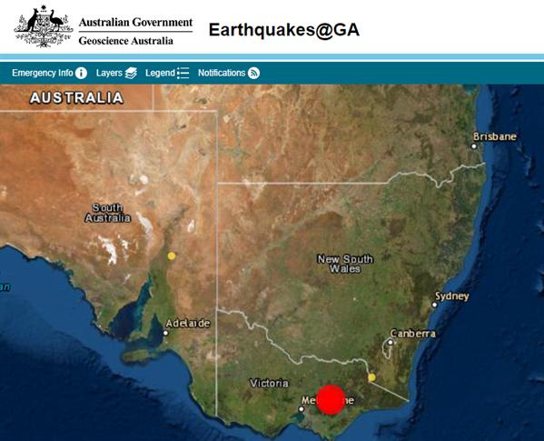 墨尔本附近的Mansfield发生5.8级地震  多地震感明显